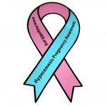 Hyperemesis Awareness Ribbon Car Magnet