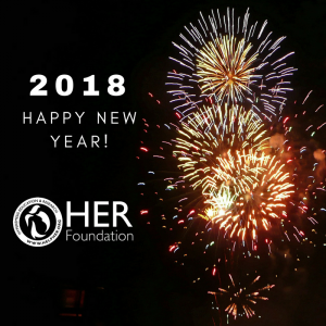 best wishes for 2018 from all of us at her thank you to all who donated to give2her to make this year a success new year 2018